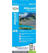 Wanderkarten Frankreich IGN Carte 3433 OT, Allevard, Belledonne Nord 1:25.000 Institut Geographique National