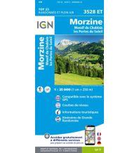 Wanderkarten Frankreich IGN Carte 3528 ET, Morzine 1:25.000 Institut Geographique National
