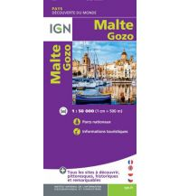 Straßenkarten Malta IGN Outre-Mer - Malta Gozo 1:50.000 Institut Geographique National
