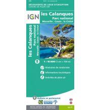 Wanderkarten Frankreich IGN Sonder-Wanderkarte Les Calanques 1:15.000 Institut Geographique National