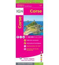 Straßenkarten Frankreich IGN Carte NR17 Frankreich, Corse/Korsika 1:250.000 Institut Geographique National