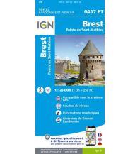 Wanderkarten Frankreich IGN Carte 0417 ET, Brest 1:25.000 Institut Geographique National