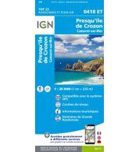Wanderkarten Frankreich IGN Carte 0418 ET, Presqu'île de Crozon 1:25.000 Institut Geographique National