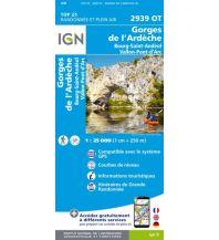 Wanderkarten Frankreich IGN WK 2939 OT Frankreich - Gorges de l'Ardeche 1:25.000 Institut Geographique National