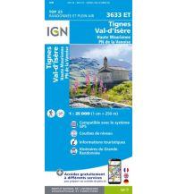 Wanderkarten Frankreich IGN Carte 3633 ET, Tignes, Val-d'Isère 1:25.000 Institut Geographique National