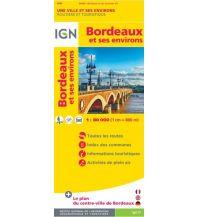 Straßenkarten Frankreich IGN Straßenkarte Frankreich - Bordeaux et ses environs. Bordeaux und Umgebung 1:80.000 Institut Geographique National