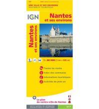Straßenkarten Frankreich IGN Straßenkarte Frankreich - Nantes et ses environs. Nantes und Umgebung 1:80.000 Institut Geographique National