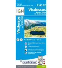 Wanderkarten Pyrenäen IGN Carte 2148 OT, Vicdessos 1:25.000 Institut Geographique National