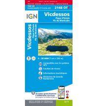 Wanderkarten Pyrenäen IGN Carte 2148 OT-R, Vicdessos 1:25.000 Institut Geographique National