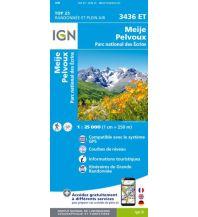 Wanderkarten Frankreich IGN Carte 3436 ET, Meije, Pelvoux 1:25.000 Institut Geographique National