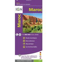 Straßenkarten Marokko IGN Straßenkarte Marokko/Maroc 1:800.000 Institut Geographique National