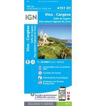 Wanderkarten Frankreich IGN Carte 4151 OT, Vico, Cargèse 1:25.000 Institut Geographique National