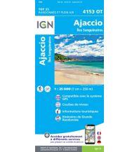 Wanderkarten Frankreich IGN Carte 4153 OT, Ajaccio 1:25.000 Institut Geographique National