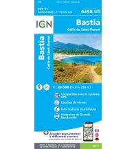 Wanderkarten Frankreich IGN Carte 4348 OT, Bastia 1:25.000 Institut Geographique National