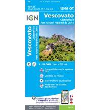 Wanderkarten Frankreich IGN Carte 4349 OT, Vescovato 1:25.000 Institut Geographique National