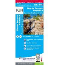 Wanderkarten IGN Carte 4252 OT-R Frankreich - Monte Renoso, Bastelica 1:25.000 Institut Geographique National