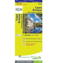 Straßenkarten Frankreich IGN Carte 117 Frankreich - Caen, Evreux 1:100.000 Institut Geographique National
