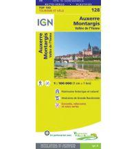 Straßenkarten Frankreich IGN Carte 128 Frankreich - Auxerre, Montargis 1:100.000 Institut Geographique National