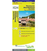 Wanderkarten IGN Carte 137 Frankreich - Besancon, Montbeliard 1:100.000 Institut Geographique National