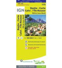 Straßenkarten Frankreich IGN Carte 175, Bastia, Corte, Calvi, l'Île-Rousse 1:100.000 Institut Geographique National