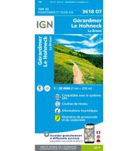 Wanderkarten Frankreich IGN Carte 3618 OT Frankreich - Gerardmer, Le Hohneck 1:25.000 Institut Geographique National