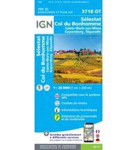 Wanderkarten Frankreich IGN Carte 3718 OT Frankreich - Selestat / Schlettstadt, Col du Bonhomme 1:25.000 Institut Geographique National