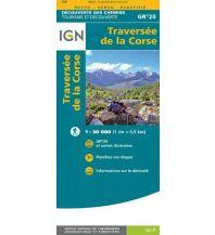 Weitwandern IGN Decouverte des chemins 89027, Traversée de la Corse GR20 1:50.000 Institut Geographique National
