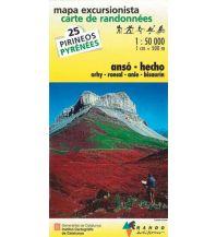 Wanderkarten Frankreich Ansó, Hecho Rando Editions