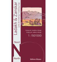 Wanderkarten Himalaya Ladakh & Zanskar Nord 1:150.000 Editions Olizane