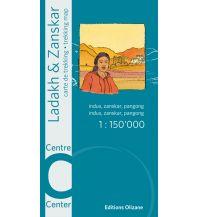 Wanderkarten Himalaya Ladakh & Zanskar Centre/Mitte 1:150.000 Editions Olizane