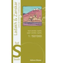 Wanderkarten Himalaya Ladakh & Zanskar Sud/Süd 1:150.000 Editions Olizane