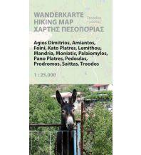 Wanderkarten Zypern Wanderkarte Tróodos (Zypern) 1:25.000 Kartographos