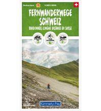 Weitwandern K+F Spezialkarte Fernwanderwege Schweiz 1:301.000 Hallwag Kümmerly+Frey AG