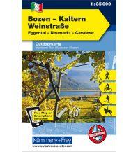 Wanderkarten Südtirol & Dolomiten Bozen-Kaltern, Weinstrasse, Eggental, Neumarkt, Cavalese Hallwag Kümmerly+Frey AG