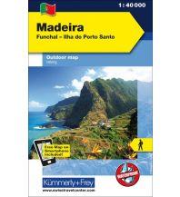 Wanderkarten Portugal Madeira Funchal - Ilha do Porto Santo Hallwag Kümmerly+Frey AG
