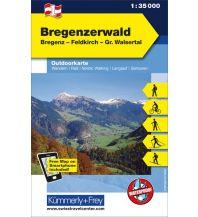 Wanderkarten Vorarlberg Bregenzerwald, Bregenz, Feldkirch, Großes Walsertal 1:35.000 Hallwag Kümmerly+Frey AG