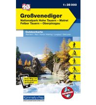 Wanderkarten Tirol Grossvenediger, Nationalpark Hohe Tauern, Matrei, Felber Tauern, Oberpinzgau Hallwag Kümmerly+Frey AG