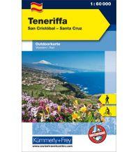 Wanderkarten Spanien Teneriffa San Cristobal - Santa Cruz Hallwag Kümmerly+Frey AG