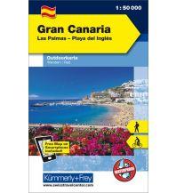 Wanderkarten Spanien Gran Canaria Las Palmas - Playa del Inglés Hallwag Kümmerly+Frey AG