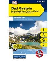 Wanderkarten Salzburg Bad Gastein, Nationalpark Hohe Tauern, Mallnitz, Grossarl, Speicher Kölnbrein Hallwag Kümmerly+Frey AG