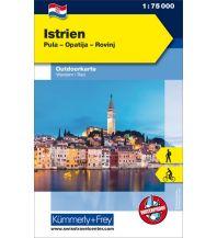 Wanderkarten Slowenien Outdoorkarte Istrien, Pula, Opatija, Rovinj 1:75.000 Hallwag Kümmerly+Frey AG