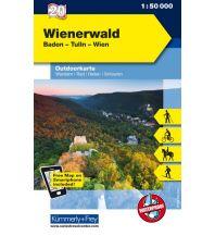 Wanderkarten Wien Karte 20, Wienerwald, Baden, Tulln, Wien 1:50.000 Hallwag Kümmerly+Frey AG
