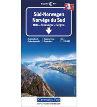 Straßenkarten Skandinavien Kümmerly+Frey Straßenkarte 1, Süd Norwegen 1: 335 000 Hallwag Kümmerly+Frey AG