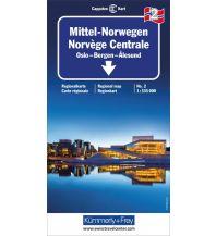 Straßenkarten Skandinavien Kümmerly+Frey Straßenkarte 2, Mittel Norwegen 1:335.000  Hallwag Kümmerly+Frey AG