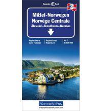 Straßenkarten Skandinavien Kümmerly+Frey Straßenkarte 3, Mittel-Norwegen 1:355.000 Hallwag Kümmerly+Frey AG