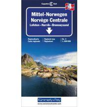 Straßenkarten Skandinavien Kümmerly+Frey Straßenkarte 4, Mittel Norwegen 1:400.000 Hallwag Kümmerly+Frey AG