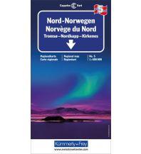 Straßenkarten Kümmerly+Frey Straßenkarte 5, Nord Norwegen 1:400 000 Hallwag Kümmerly+Frey AG