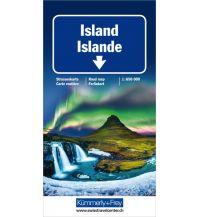 Island Strassenkarte Hallwag Kümmerly+Frey AG