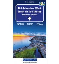 Straßenkarten Skandinavien K+F Regionalkarte 2, Süd-Schweden (West) 1:250.000 Hallwag Kümmerly+Frey AG