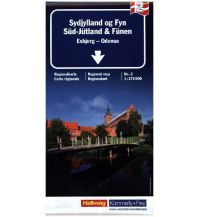 Straßenkarten K+F Straßenkarte Süd-Jütland & Fünen, Esbjerg - Odense 1:180.000 Hallwag Kümmerly+Frey AG